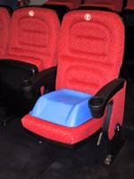 Alzadores infantiles para butacas de cine y teatro